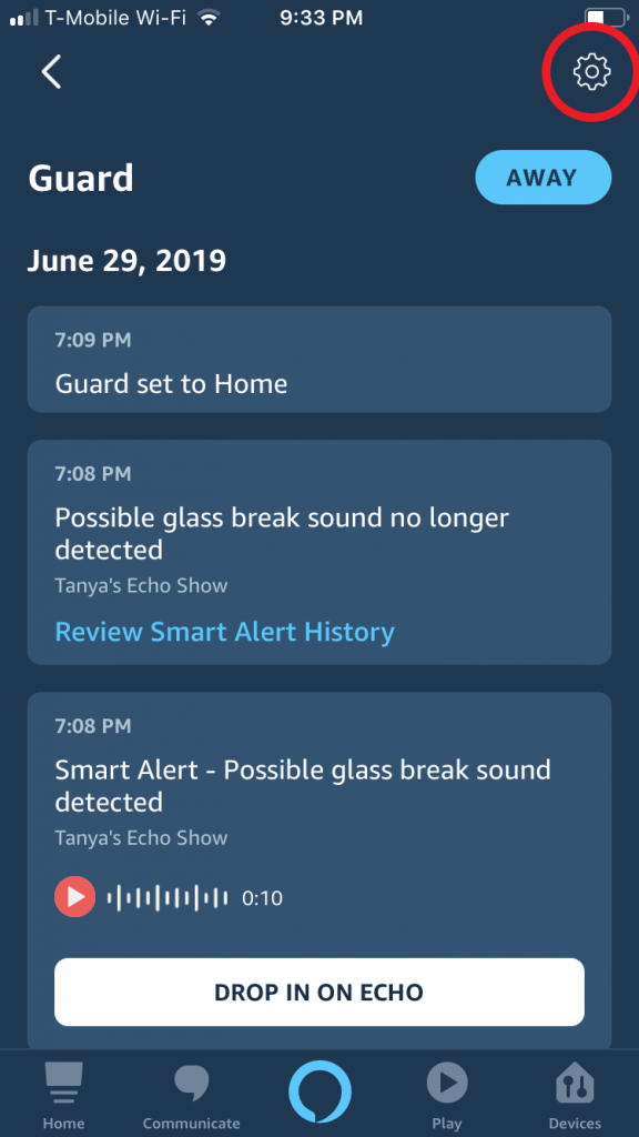 How to check the list of Alexa devices associated with Alexa Guard mode