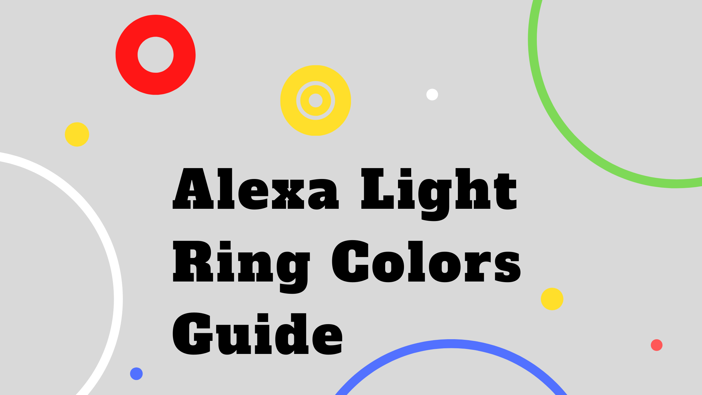 Alexa white ring